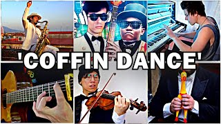 Who Played it Better: COFFIN DANCE MEME - Astronomia (Bass, Piano, Sax, Violin, Chicken, Guitar)