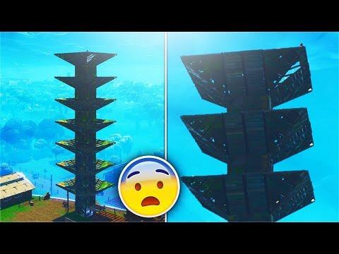 BUILDING THE TALLEST 'PORT-A-FORT' SKY BASE EVER! FORTNITE BATTLE ROYALE WORLD RECORD SKYBASE!