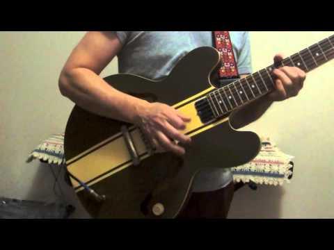 epiphone es 333 tom delonge model semi hollow body electric guitar demo youtube. Black Bedroom Furniture Sets. Home Design Ideas