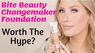 NEW Bite Beauty Changemaker Micellar Foundation 12 Hour Wear Test and Review