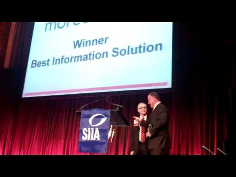 Moreover Technologies - CODiE Award - Best Content Aggregation Solution - Jan 25, 2011