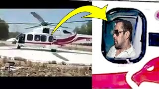 Salman Khan's Helicopter Take Off Video After Shooting For Tiger Zinda Hai With Katrina Kaif In UAE