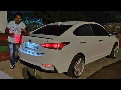 Hyundai Verna Modification Worth Rupees ₹600/- 😲 Alloys | Samurai Spoiler | Techno Khan