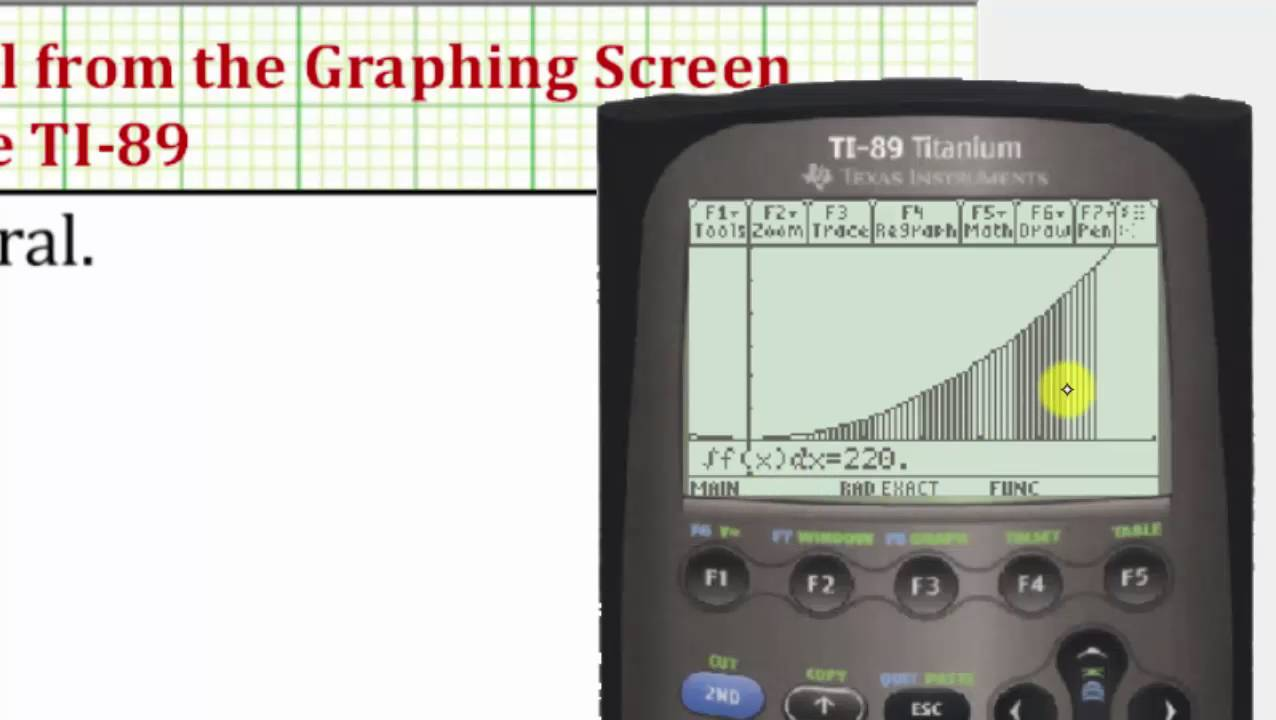 How to do double integrals using Ti 89 by Abdulrahman Mahjoub
