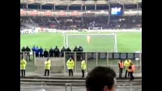 3ème but (Capoue) de TFC-Lyon vu depuis le virage ouest