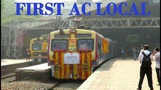 India's First AC Local Train in Mumbai : Full Journey Coverage : Interiors + Arrival + Departure