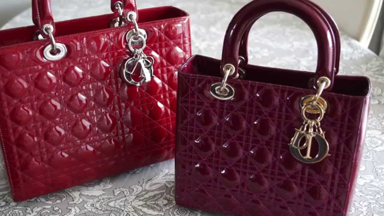 e153d2c019a8 How to Spot a Fake Lady Dior Handbag Review My Christian Dior Bag - YouTube