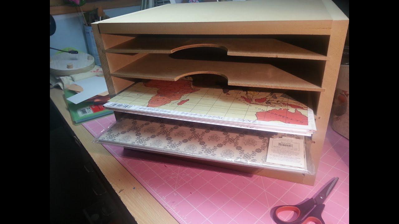 Como hacer una estantera para papeles scrapbook con CNC