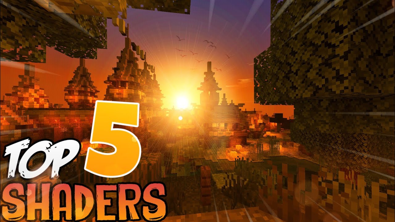 Minecraft PE - Top 5 BEST Shaders 2019 MCPE 1 10/1 11 Texture PACK For MCPE  1 12
