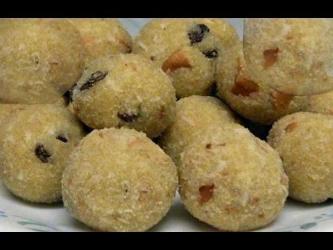 How to make GODUMA RAVA LADDU Recipe in Telugu