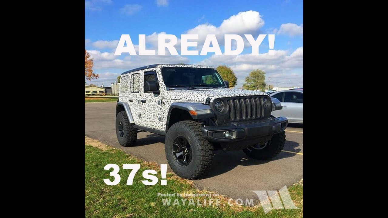 First Jeep Wrangler Jl Jlu Lifted 37 S Youtube