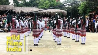 A marching band with bagpipes and drums - Mizoram