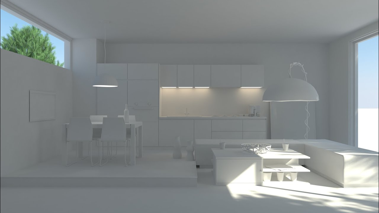 Vray nterior rendering tutorial part 1 lightining 3ds Interior design rendering software free
