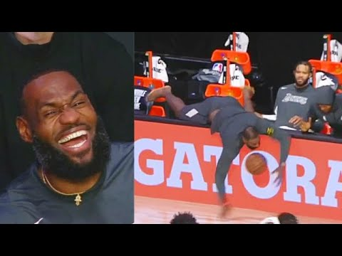 LeBron James Can't Stop Laughing After Embarrassing Himself Trying To Save Ball! Lakers vs Wizards