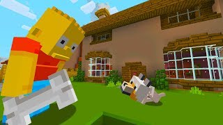 BART SIMPSON GETS A PUPPY | The Simpsons | Minecraft