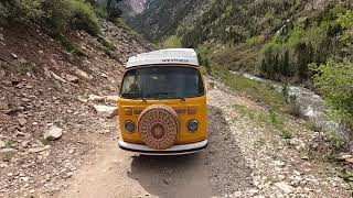 """Driving Down from Crystal Mill in my """"76 VW Westfalia"""