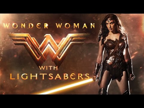 Wonder Woman with Lightsabers