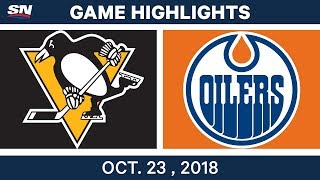NHL Highlights | Penguins vs. Oilers - Oct. 23, 2018