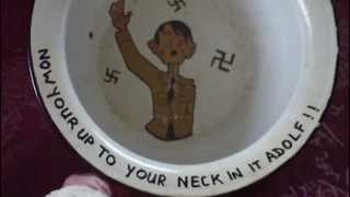 WW2 BRITISH ANTI GERMAN ENAMEL PROPAGANDA TOILET POT