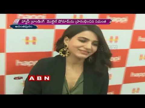 Samantha Inaugurates Happi mobile showroom in Anantapur