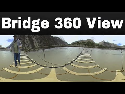 360 VR VIDEO of World's Most Dangerous Bridge in Pakistan for Virtual Reality  | Life Skills TV