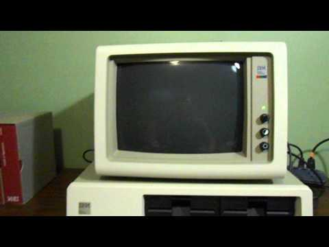 New Old Stock IBM PC 5150 Boot up test with DOS 1.1
