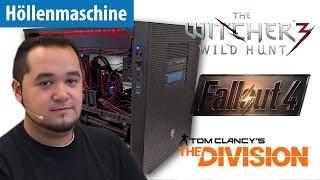 Höllenmaschine UVR: Zocken in 4K mit Fallout 4, Witcher 3 & The Division | deutsch / german