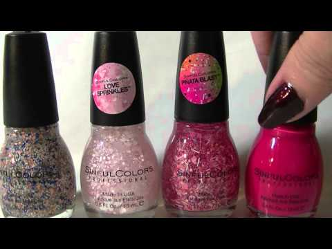 big lots haul sinful colors pinata blast love sprinkles confetti nail polishes - Vernis Sinful Colors