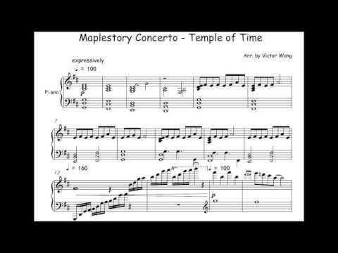 Maplestory Piano Concerto - Temple of Time (Piano) (Music Sheets)