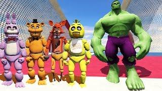 animatronics new incredible hulk vs world s biggest ramp gta 5 mods fnaf funny moments