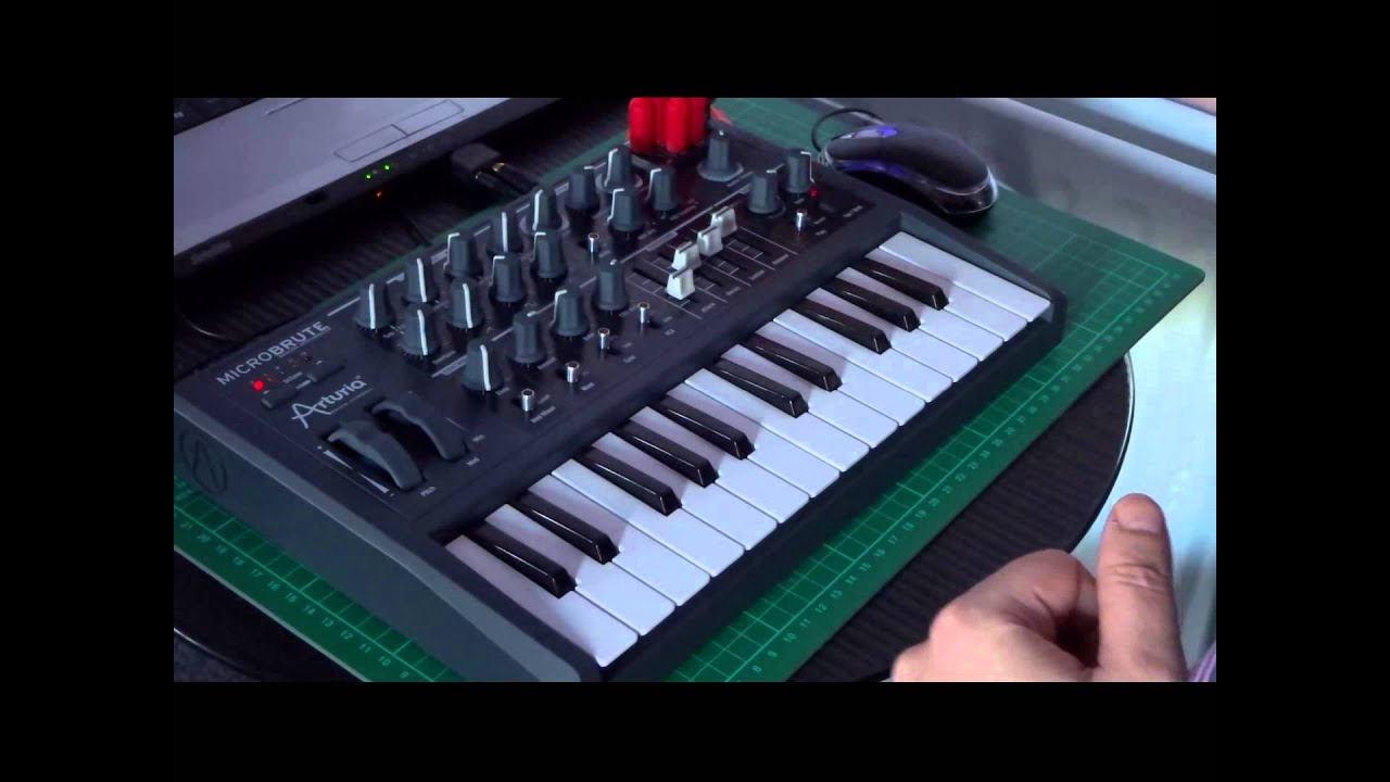 Arturia MicroBrute - the ten factory patch sheets - YouTube