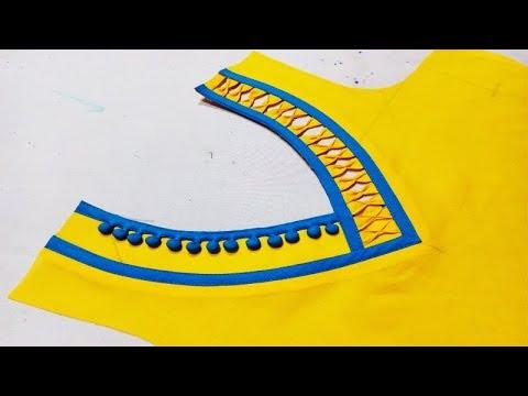 Creative and very latest V neck design 2018 cutting and stitching ... 6b7534bda