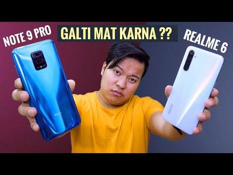 Redmi Note 9 Pro Vs Realme 6 Full Comparison : Asli Sach 🔍!!