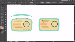 How to Create Logo Design Elements in Adobe Illustrator  Radio Part 4