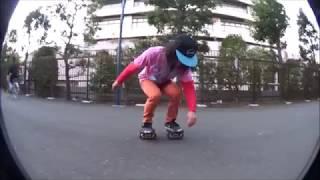 JMKRIDE pro riders' session in Heiwanomori park, Tokyo