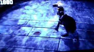 Batman arkham city.  Riddler trys to beat me and my sis
