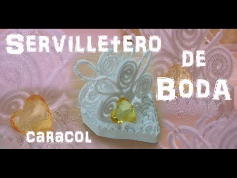 Download video: Cómo hacer un servilletero de boda CARACOL TUTORIAL