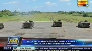 High-tech armored personnel carriers, sinubukan ng Philippine Army