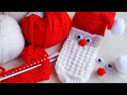Носки спицами новый год
