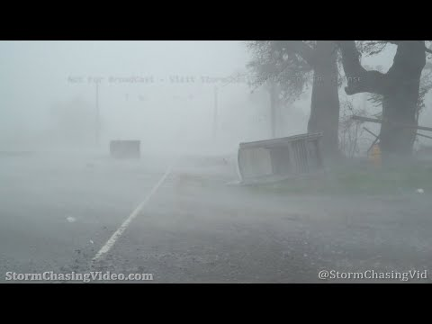 Hurricane Delta Massive Storm Surge And Eye, Creole, LA 10/9/2020