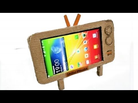 how to make phone holder with cardboar