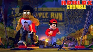 ROBLOX CRUMBLE TEMPLE RUN - DONUT & ROPO TAKE ON THE MOST IMPOSSIBLE TEMPLE RUN EVER!!