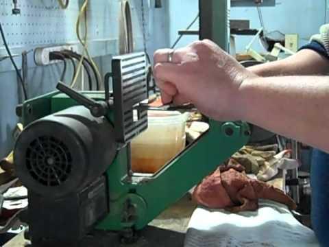 how to follow grind bevl on knife jig