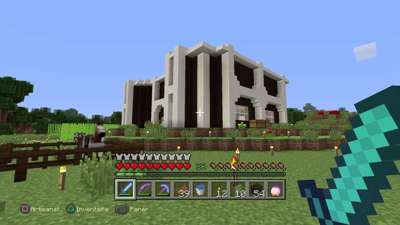 Minecraft Ps4 Le Maître De La Survie 9 Ma Maison Moderne