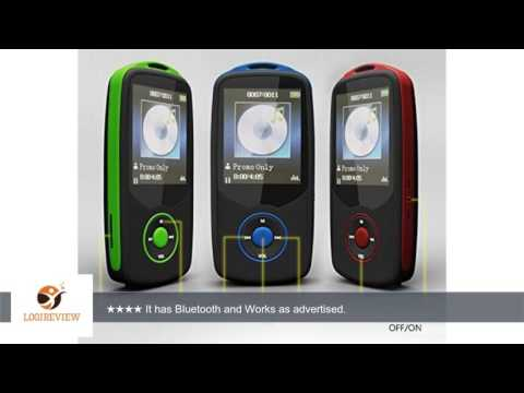 MEEKO 50 HOURS Continuous Playback 4GB Bluetooth MP3 Music Player multifunctional MP3Micro SD Card