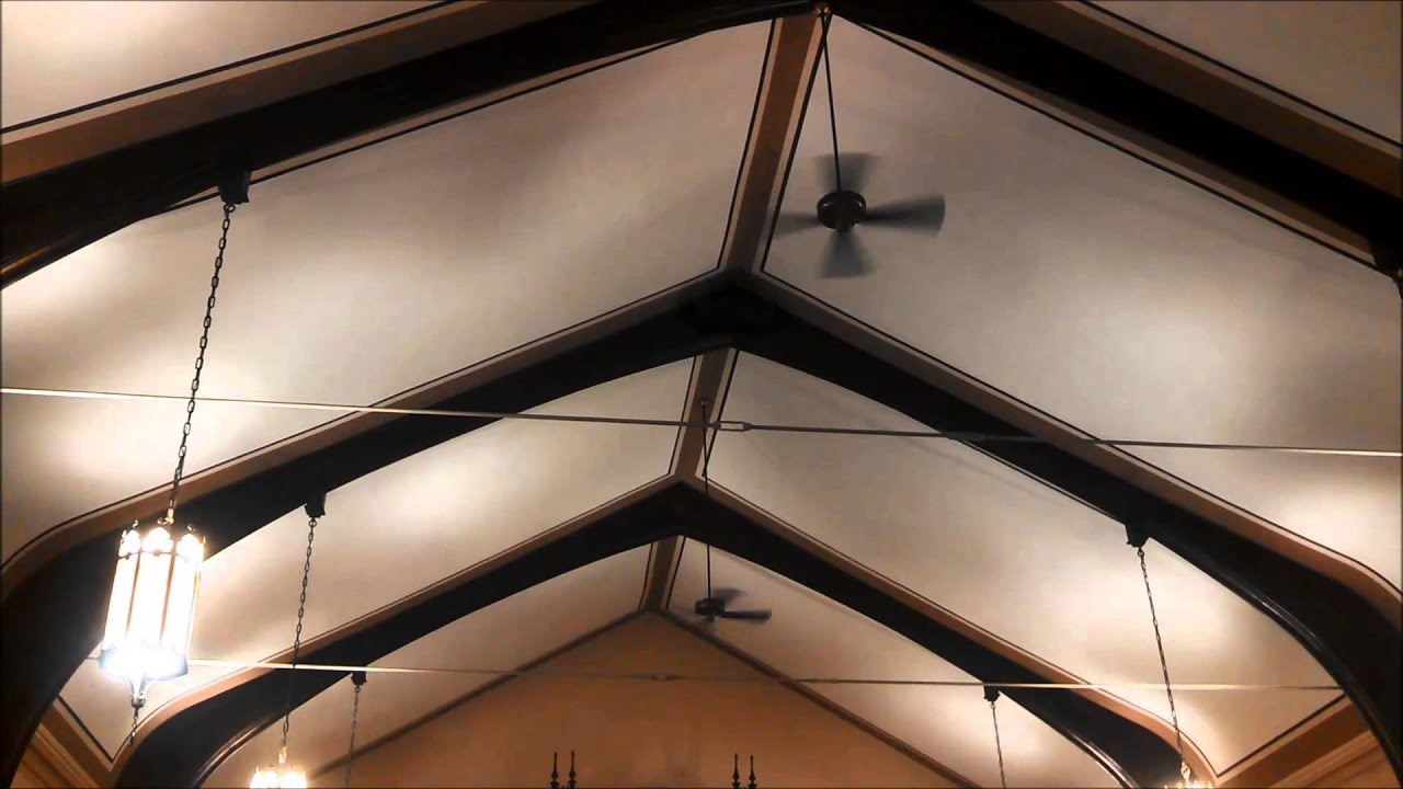 Nutone Verandah Deluxe Ceiling Fans In A Historic Church Full You
