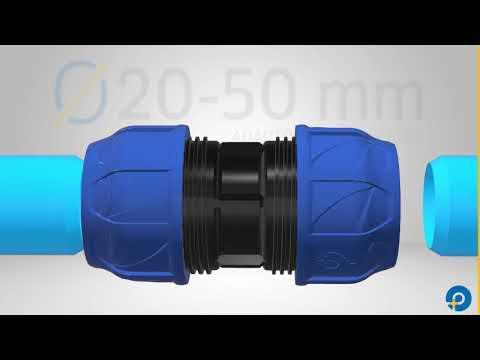 Сборка фитингов ПНД диаметром  20-50 мм