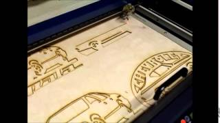 Epilog Laser Engraver cutting wood Chevelle sign