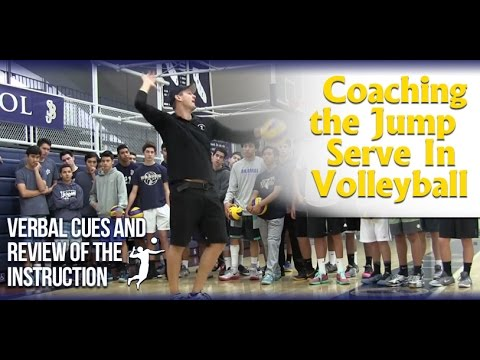 Volleyball Jump Serve Instruction and Coaching Video