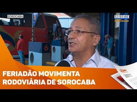 Movimento na rodoviária de Sorocaba deve aumentar 15%  - TV SOROCABA/SBT